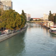vj video background Calm-Blue-Water-Wien-In-Vienna-Austria-Schwedenplatz-Donaukanal-Stadtkanal_003