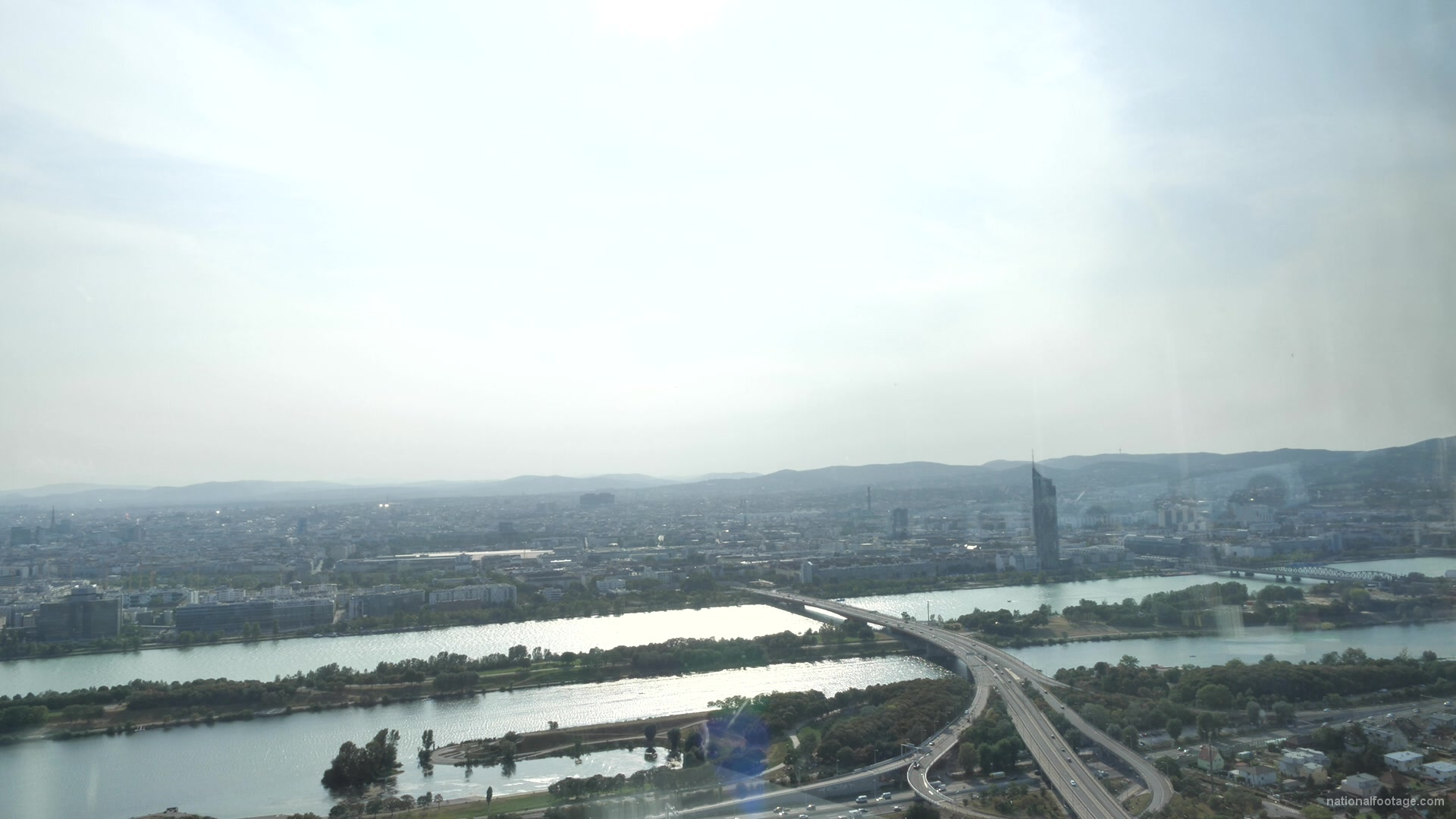 vj video background Great-Weather-Day-Timelapse-Rotation-Scenery-Donauturm-Vienna-Austria_003