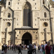 vj video background Nice-Summer-Holiday-Tourist-Trip-Stephansdome-Church-Stephansplatz-Vienna-Austria-Full-HD-Live-Footage_003