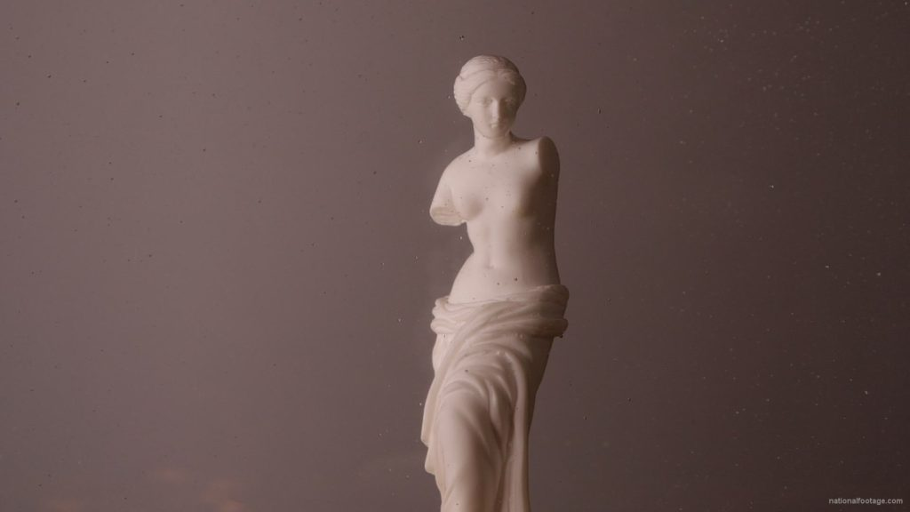 Beauty-Venus-statue-with-gold-dollars-coins-falls-in-slow-motion_009 National Footage