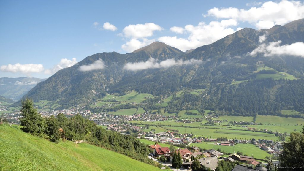 Hot-Fantastic-Summer-Weekend-Day-at-the-Bad-Gastein-in-the-Alps-Mountains-Austria-Timelapse-Full-HD-25fps-_008 National Footage