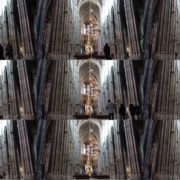 Timelapse-in-Church-Hall-European-Gothic-Temple-people National Footage