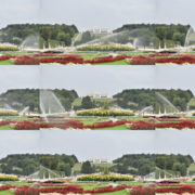 Amazing-Flower-Water-System-Schoenbrunn-Palace-at-Vienna-Austria-4K-25fps-Video-Footage National Footage
