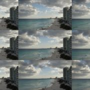 Long-beach-line-view-in-Cancun-Mexico-travel-timelapse National Footage