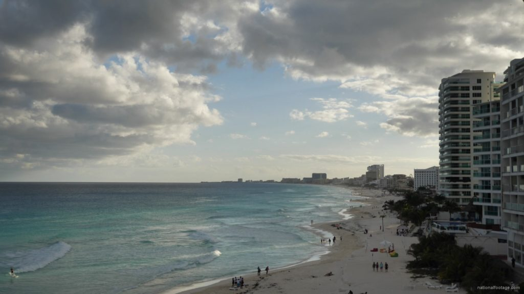 Long-beach-line-view-in-Cancun-Mexico-travel-timelapse_005 National Footage
