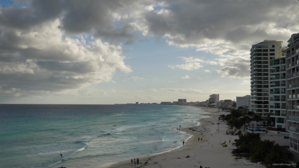 Long-beach-line-view-in-Cancun-Mexico-travel-timelapse_006 National Footage