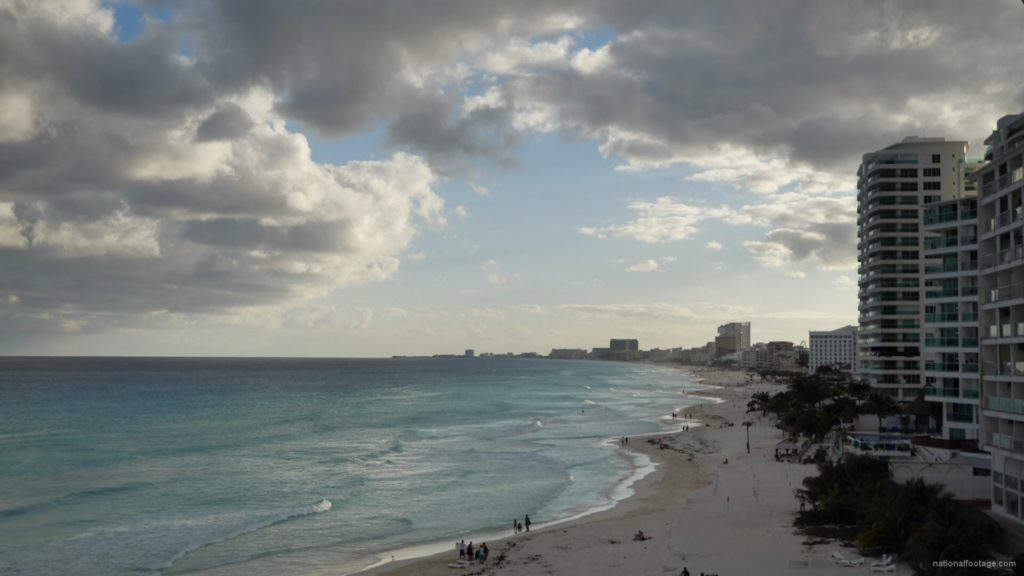 Long-beach-line-view-in-Cancun-Mexico-travel-timelapse_008 National Footage