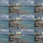 Mexican-cancun-city-beach-sea-view-timelapse-in-daylight National Footage