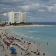 vj video background Mexican-cancun-city-beach-sea-view-timelapse-in-daylight_003