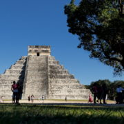 Pyramids-in-Mexcian-Chichenitza-travel-tourists-in-4K_001 National Footage
