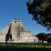 Pyramids-in-Mexcian-Chichenitza-travel-tourists-in-4K_002 National Footage