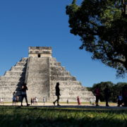 Pyramids-in-Mexcian-Chichenitza-travel-tourists-in-4K_004 National Footage