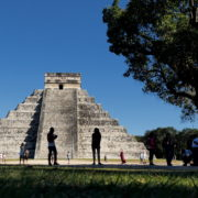 Pyramids-in-Mexcian-Chichenitza-travel-tourists-in-4K_005 National Footage
