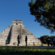 Pyramids-in-Mexcian-Chichenitza-travel-tourists-in-4K_006 National Footage