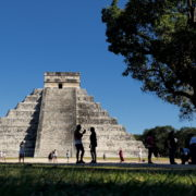 Pyramids-in-Mexcian-Chichenitza-travel-tourists-in-4K_007 National Footage