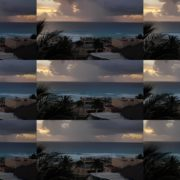 Rain-day-in-ocean-clouds-sky-sea-view-timelapse-in-mexico National Footage