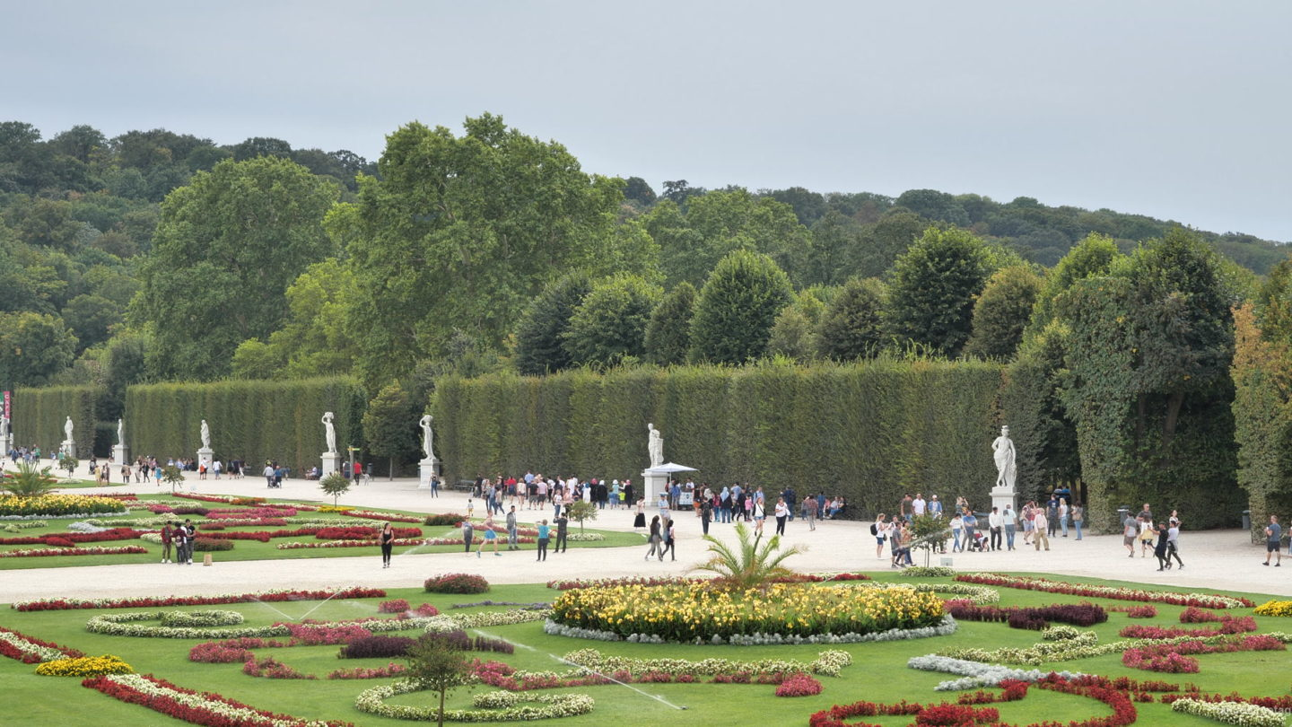 vj video background Sunny-Day-at-Beautiful-Gardens-of-Schoenbrunn-Palace-at-Vienna-Austria-Timelapse-4K-25fps-Video-Footage_003