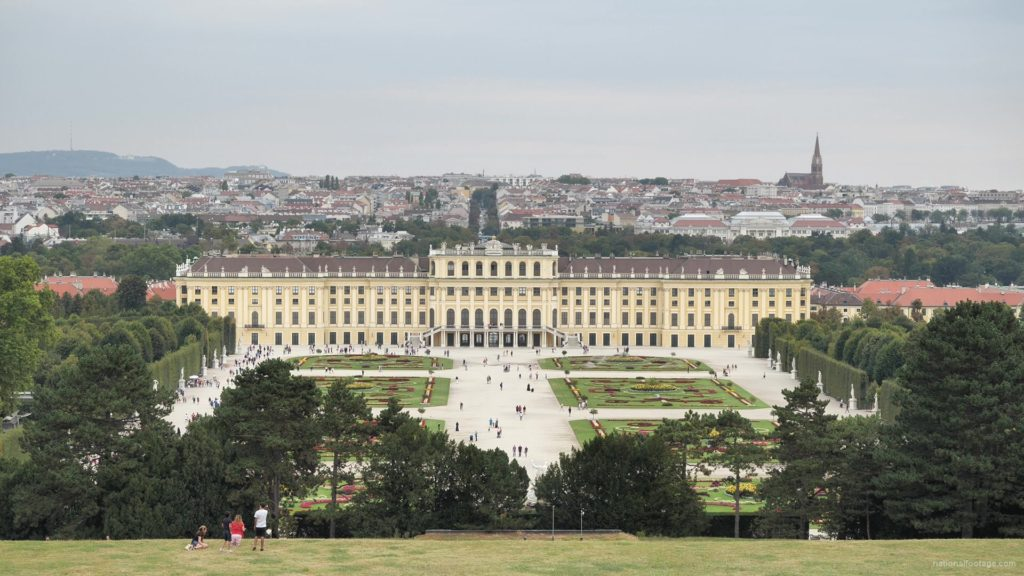Warm-Beautiful-Weather-Schoenbrunn-Palace-at-Vienna-Austria-Timelapse-Full-HD-Video-Footage_008 National Footage