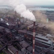 Air-polution-large-pipe-with-a-thick-coal-smelter_002 National Footage