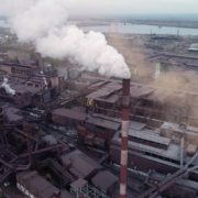 Air-polution-large-pipe-with-a-thick-coal-smelter_004 National Footage