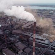 Air-polution-large-pipe-with-a-thick-coal-smelter_005 National Footage