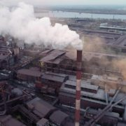 Air-polution-large-pipe-with-a-thick-coal-smelter_007 National Footage