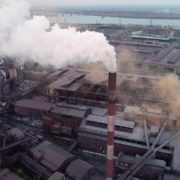 Air-polution-large-pipe-with-a-thick-coal-smelter_008 National Footage