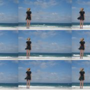 Amazing-curly-blonde-girl-look-the-sea-in-slow-motion-enjoy-the-wind National Footage