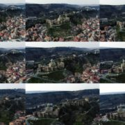 Ancient-Magic-castle-on-the-mountain-among-thousands-of-trees National Footage