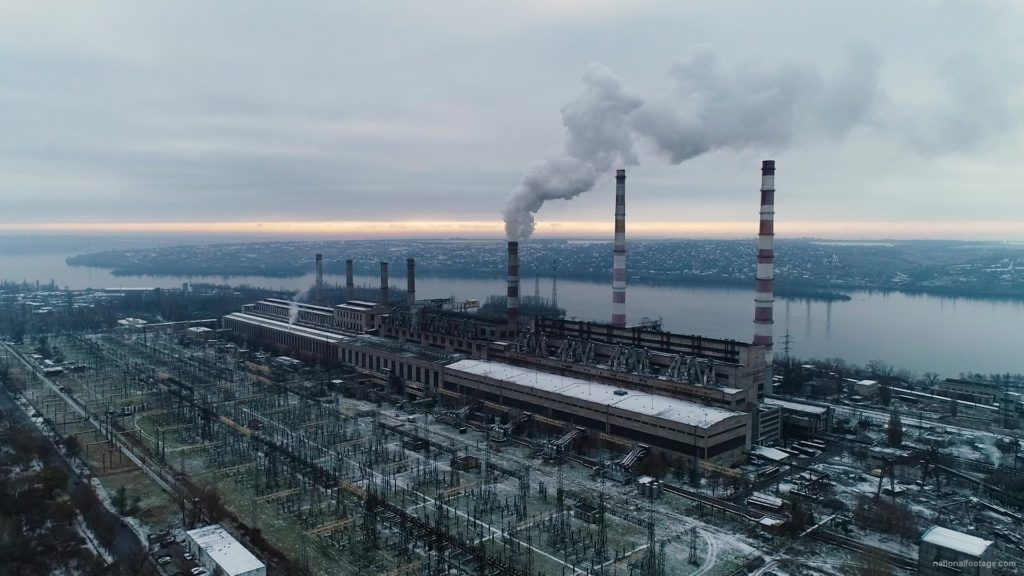 Atomic-power-station-from-the-height-of-a-birds-flight-during-working-hours_001 National Footage