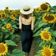 Blonde-Girl-goes-slow-motion-to-the-Sun-Flower-Field_004 National Footage
