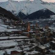 Caucas-mountains-aero-drone-Video-in-Geogrian-Village-in-Winter_001 National Footage