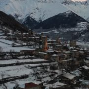 Caucas-mountains-aero-drone-Video-in-Geogrian-Village-in-Winter_002 National Footage