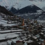 vj video background Caucas-mountains-aero-drone-Video-in-Geogrian-Village-in-Winter_003