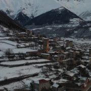 Caucas-mountains-aero-drone-Video-in-Geogrian-Village-in-Winter_004 National Footage