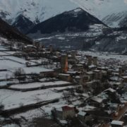 Caucas-mountains-aero-drone-Video-in-Geogrian-Village-in-Winter_005 National Footage