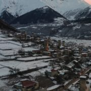 Caucas-mountains-aero-drone-Video-in-Geogrian-Village-in-Winter_007 National Footage