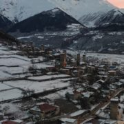 Caucas-mountains-aero-drone-Video-in-Geogrian-Village-in-Winter_008 National Footage