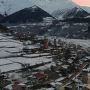 Caucas-mountains-aero-drone-Video-in-Geogrian-Village-in-Winter_009 National Footage