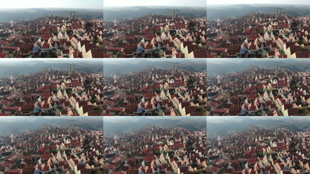 European-old-town-with-magnificent-views-over-many-mountains National Footage