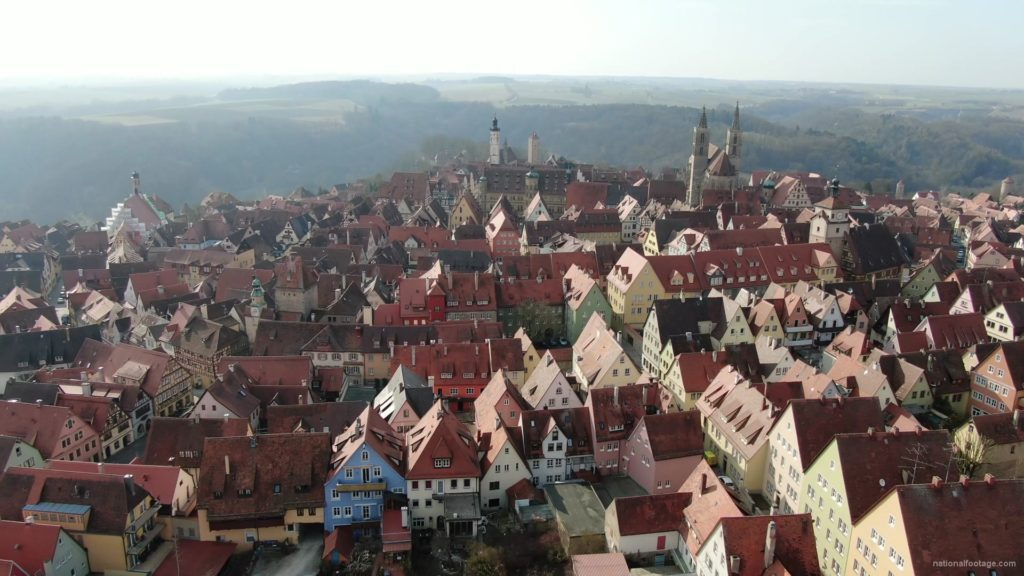 European-old-town-with-magnificent-views-over-many-mountains_001 National Footage