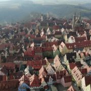 European-old-town-with-magnificent-views-over-many-mountains_007 National Footage