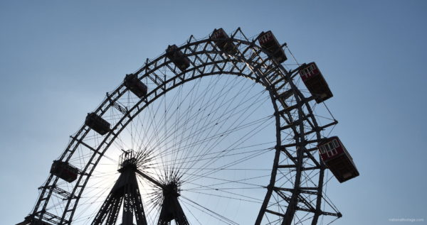 Hot-Sunny-Weather-Holiday-Wiener-RIESENRAD-Vienna-Austria-Full-HD-Live-Footage_002 National Footage
