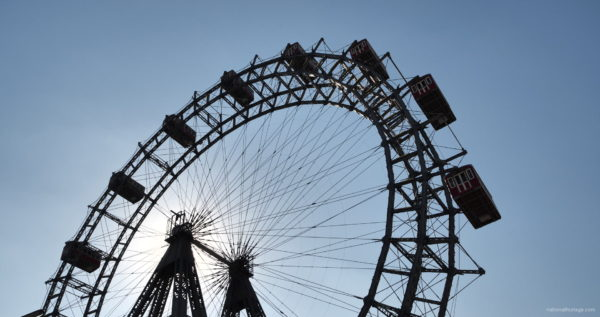 Hot-Sunny-Weather-Holiday-Wiener-RIESENRAD-Vienna-Austria-Full-HD-Live-Footage_005 National Footage