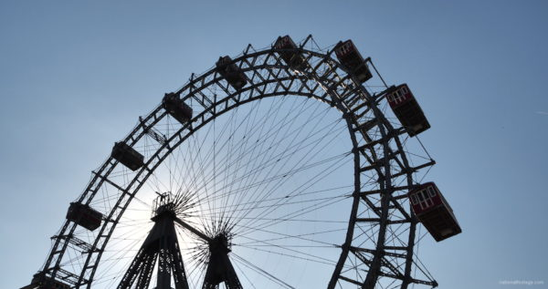 Hot-Sunny-Weather-Holiday-Wiener-RIESENRAD-Vienna-Austria-Full-HD-Live-Footage_006 National Footage