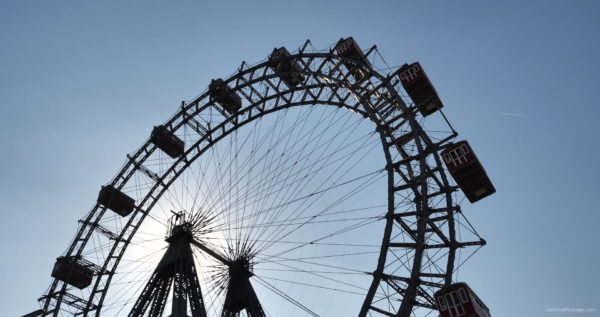 Hot-Sunny-Weather-Holiday-Wiener-RIESENRAD-Vienna-Austria-Full-HD-Live-Footage_008 National Footage