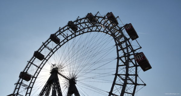 Hot-Sunny-Weather-Holiday-Wiener-RIESENRAD-Vienna-Austria-Full-HD-Live-Footage_009 National Footage