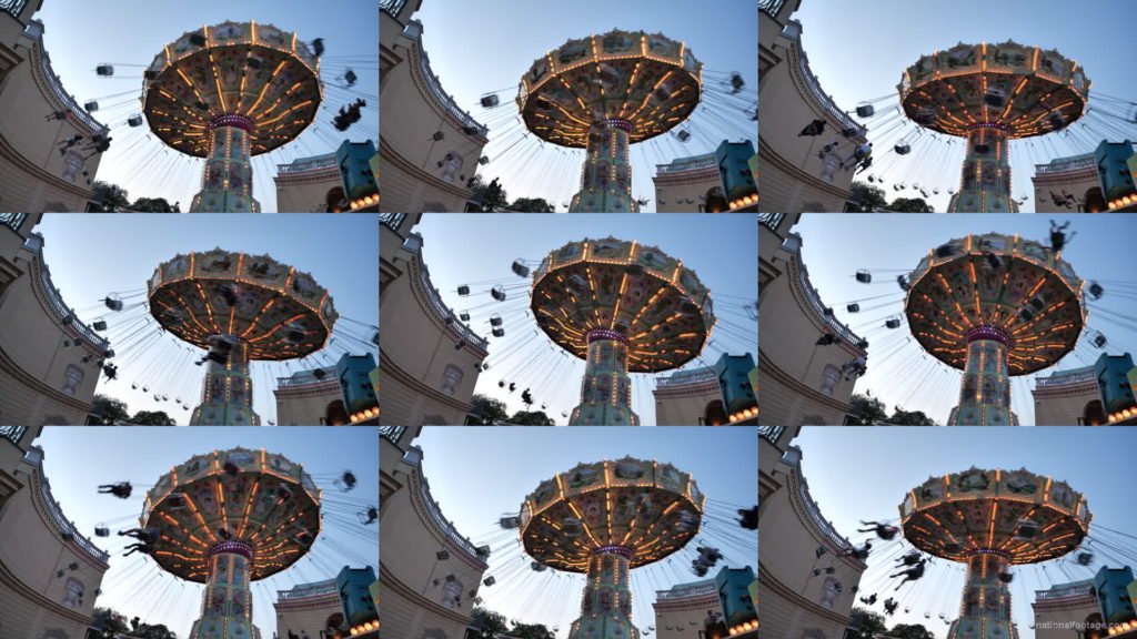 Incredible-Speed-Rotating-Wheel-Attraction-In-Prater-Vienna-Austria National Footage