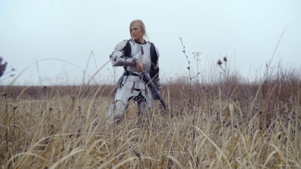 Knight-Girl-in-France-with-sword-Lady-Ritter_004 National Footage