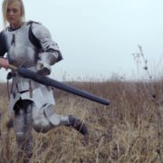Knight-Girl-in-France-with-sword-Lady-Ritter_005 National Footage